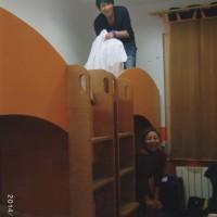 ザグレブのホステル 自分で自分のベットをきれいにすること