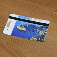 青いドブロブニクの風景のあるチケット