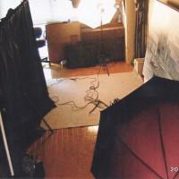 200号の作品撮影はいつも岡島さんが我家のアトリエで機材を持ち込んで行ってくれます