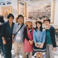 敦賀から来て下さった笹田さん達。この関わりは笹田さん達の新婚旅行ツアーに私と陵とで参加した事からのもの。他に西村さん夫婦もいらしてくれた。