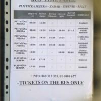 バス停での時刻表