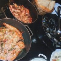 ドブログニクの海の幸の夕食は最高