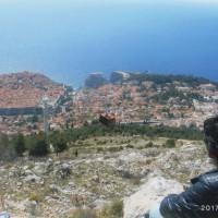 山頂から 旧市街地と新市街地を見れる場所