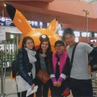 日本語の勉強をする為 私達と同じ飛行機に乗り合わせて仲良くなったイタリアの女の子たち