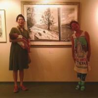 由夏さんがお母さんになって赤ちゃんと共に展示会に来ました。
