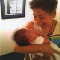 1ヶ月程の小さな千歳ちゃんにこれからの輝く幸せを祈る