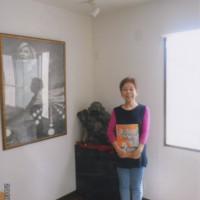 3冊目の画集が出来上った日。「心ゆれる」の絵の中に私の横シルエット。恵子69才の夏のはじまり